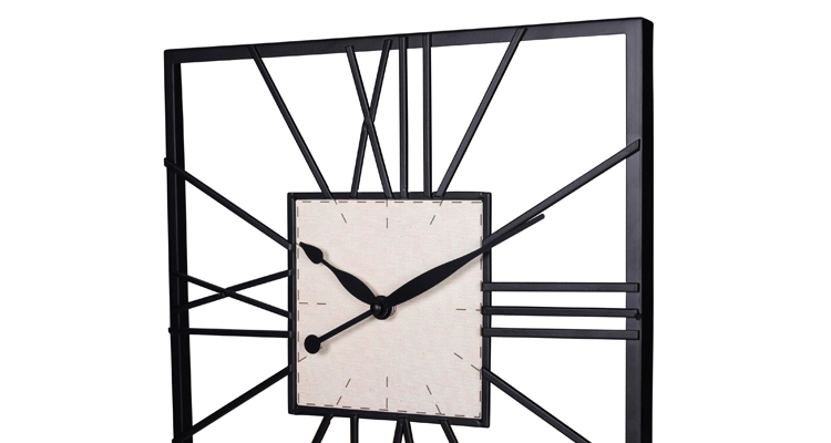 Square Iron Wall Clock