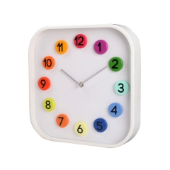 Modern White Square Wall Clock
